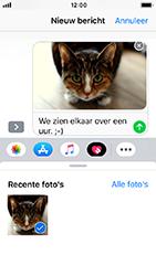 Apple iPhone SE - iOS 12 - MMS - afbeeldingen verzenden - Stap 12