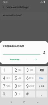 Samsung Galaxy A30 - voicemail - handmatig instellen - stap 10