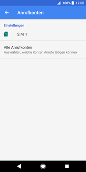 Sony Xperia XZ2 - Anrufe - Rufumleitungen setzen und löschen - 7 / 13