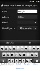 Sony Xperia S - Internet und Datenroaming - Verwenden des Internets - Schritt 6