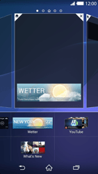 Sony Xperia Z2 - Startanleitung - Installieren von Widgets und Apps auf der Startseite - Schritt 7