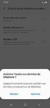 Samsung Galaxy A20e - Internet et connexion - Utiliser le mode modem par USB - Étape 7