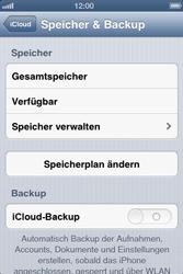 Apple iPhone 4 - Apps - Konfigurieren des Apple iCloud-Dienstes - Schritt 10