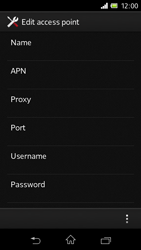 Sony C1905 Xperia M - Internet - Manual configuration - Step 12