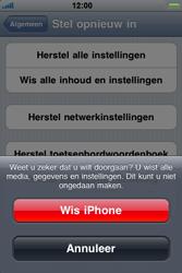 Apple iPhone 4 - Instellingen aanpassen - Fabrieksinstellingen terugzetten - Stap 7