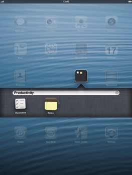 Apple iPad Retina - Getting started - Personalising your Start screen - Step 4
