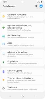 Samsung Galaxy S20 Ultra 5G - Startanleitung - So fügen Sie eine Tastatursprache hinzu - Schritt 4