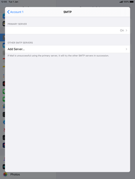Apple iPad 9.7 (2018) - iPadOS 13 - E-mail - manual configuration - Step 17