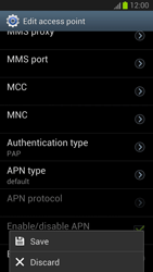 Samsung Galaxy S III - Internet and data roaming - Manual configuration - Step 14