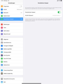 Apple iPad Pro 12.9 (1st gen) - ipados 13 - WiFi - So aktivieren Sie einen WLAN-Hotspot - Schritt 8
