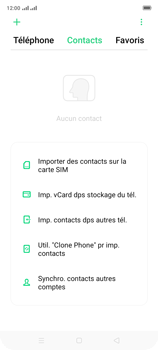 Oppo A9 2020 - Contact, Appels, SMS/MMS - Ajouter un contact - Étape 4