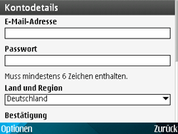 Nokia E71 - Apps - Konto anlegen und einrichten - Schritt 18