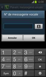 Samsung I8730 Galaxy Express - Messagerie vocale - Configuration manuelle - Étape 8