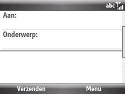 HTC S521 Snap - E-mail - hoe te versturen - Stap 6