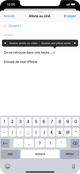 Apple iPhone XR - E-mails - Envoyer un e-mail - Étape 10