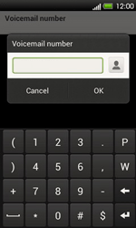 HTC T320e One V - Voicemail - Manual configuration - Step 7