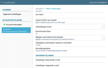 Samsung Galaxy Tab4 10.1 4G (SM-T535) - E-mail - Instellingen KPNMail controleren - Stap 17