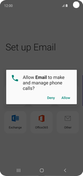 Samsung Galaxy S10e - E-mail - 032c. Email wizard - Outlook - Step 12
