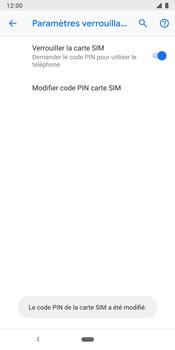 Google Pixel 3 - Sécuriser votre mobile - Personnaliser le code PIN de votre carte SIM - Étape 11