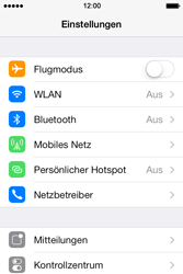 Apple iPhone 4S iOS 7 - Netzwerk - Manuelle Netzwerkwahl - Schritt 3