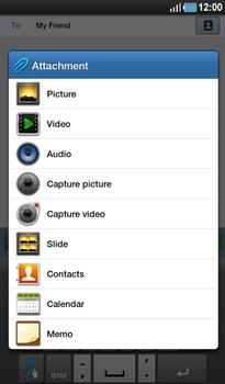 Samsung P1000 Galaxy Tab - MMS - Sending pictures - Step 7