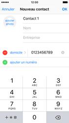 Apple iPhone SE - Contact, Appels, SMS/MMS - Ajouter un contact - Étape 9