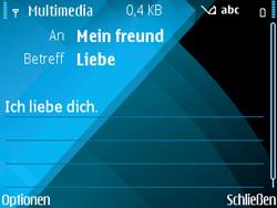 Nokia E71 - MMS - Erstellen und senden - Schritt 15
