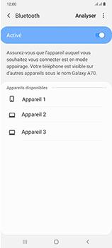 Samsung Galaxy A70 - Internet et connexion - Connexion avec un équipement multimédia via Bluetooth - Étape 8