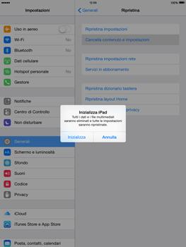 Apple iPad mini iOS 8 - Dispositivo - ripristino delle impostazioni originali - Fase 7