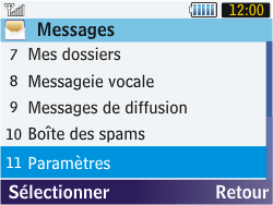 Samsung S3570 Chat 357 - Messagerie vocale - Configuration manuelle - Étape 4