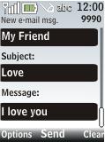Nokia 2720 fold - E-mail - Sending emails - Step 9