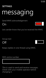 Nokia Lumia 720 - SMS - Manual configuration - Step 6