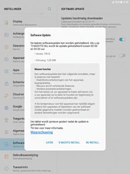 Samsung Galaxy Tab S2 9.7 - Android Nougat - Software updaten - Update installeren - Stap 7