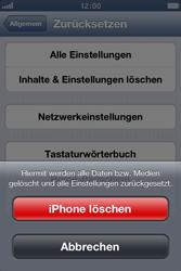 Apple iPhone 3GS - Gerät - Zurücksetzen auf die Werkseinstellungen - Schritt 6