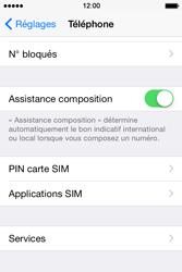 Apple iPhone 4S (iOS 8) - Sécuriser votre mobile - Personnaliser le code PIN de votre carte SIM - Étape 4