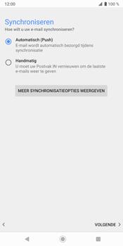 Sony Xperia XZ3 - E-mail - Handmatig instellen - Stap 20