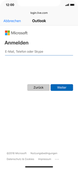 Apple iPhone X - E-Mail - Konto einrichten (outlook) - 6 / 12