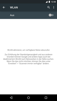 Motorola Google Nexus 6 - WLAN - Manuelle Konfiguration - Schritt 5