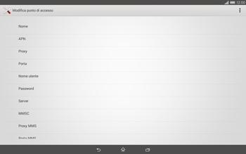 Sony Xperia Tablet Z2 LTE - Internet e roaming dati - Configurazione manuale - Fase 9