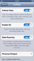 Apple iPhone 5 - Internet - Disable data roaming - Step 5