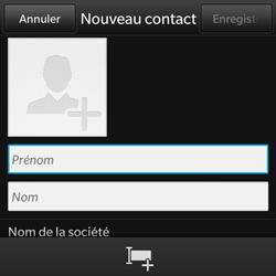 BlackBerry Q10 - Contact, Appels, SMS/MMS - Ajouter un contact - Étape 4