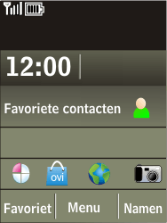 Nokia X3-02 - Wifi - handmatig instellen - Stap 1