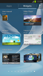 Samsung Galaxy Note II - Getting started - Installing widgets and applications on your start screen - Step 5