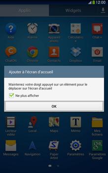 Samsung Galaxy Tab 3 8-0 LTE - Prise en main - Installation de widgets et d