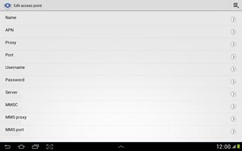Samsung N8000 Galaxy Note 10-1 - Internet - Manual configuration - Step 10