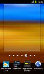 Samsung Galaxy S II - Getting started - Installing widgets and applications on your start screen - Step 4