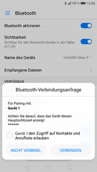 Huawei Mate 9 - Bluetooth - Geräte koppeln - Schritt 8
