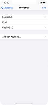Apple iPhone XS Max - iOS 14 - Getting started - How to add a keyboard language - Step 8