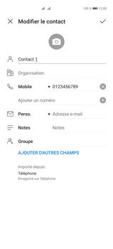 Huawei P40 Pro - Contact, Appels, SMS/MMS - Ajouter un contact - Étape 10