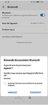Huawei Y6 (2019) - Internet et connexion - Connexion avec un équipement multimédia via Bluetooth - Étape 8